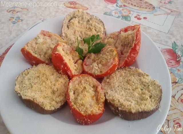 Melanzane e pomodori gratinati