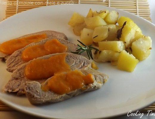 Filetto di maiale cn mele e zucca