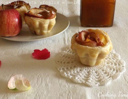 Rose di pasta sfoglia e mele