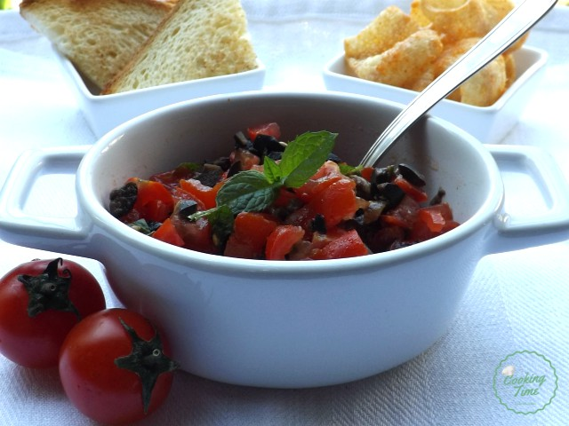 Salsa di pomodorini e olive