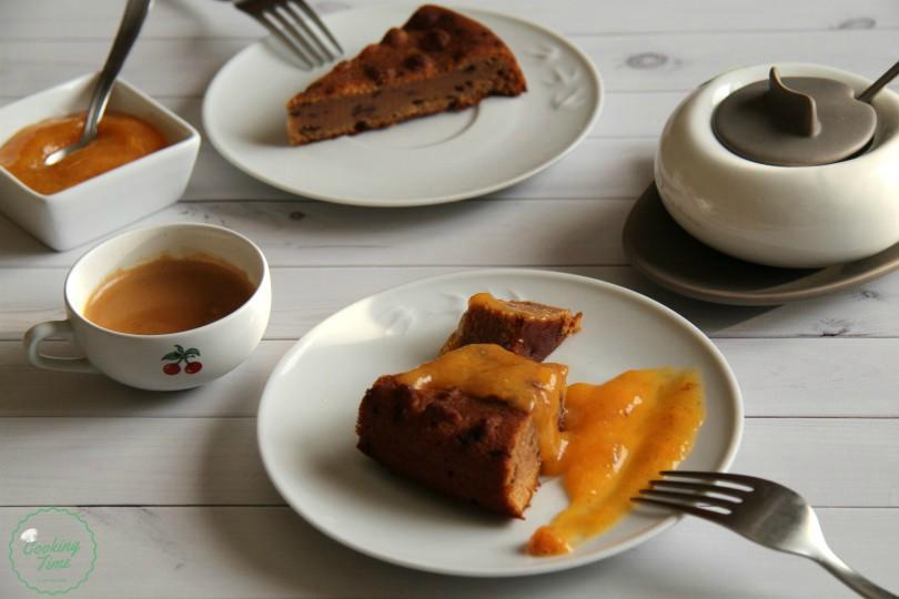 Torta cachi e cioccolato