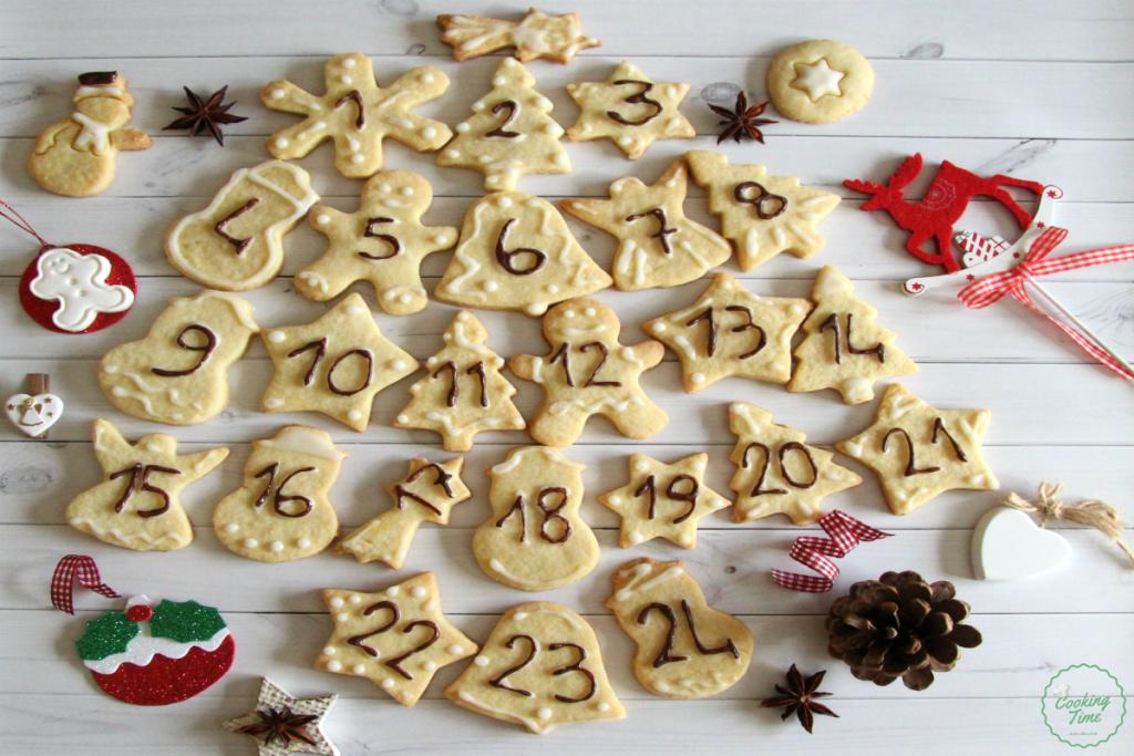 Calendario dell'Avvento con biscotti