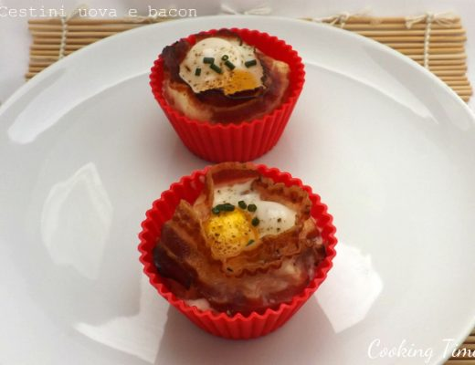 Cestini uova e bacon